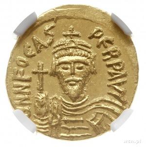 solidus 603-607, Konstantynopol; Aw: Popiersie cesarza ...