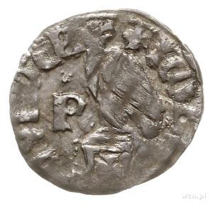 dinar (półgrosz); Aw: Tarcza herbowa, w lewym polu pasy...