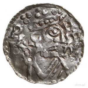 denar 1009-1024; Aw: Popiersie w prawo, REX HINRIC; Rw:...