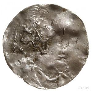 denar; Aw: Głowa w koronie radialnej w prawo, [HEINRICV...