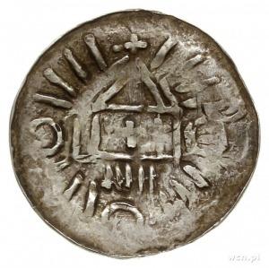 denar krzyżowy ze świątynią; Aw: Świątynia o podwójnym ...