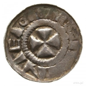 denar krzyżowy typu dewenterskiego; Aw: Półksiężyc, krz...