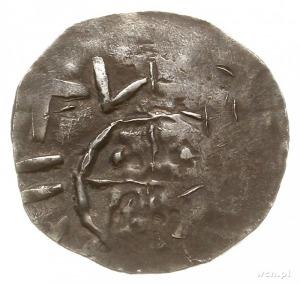 denar naśladujący typ OAP, przed 1006 r.; Aw: Smukła ka...