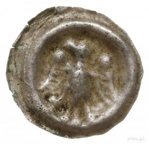 Wielkopolska?, brakteat, koniec XIII w.; Orzeł heraldyc...