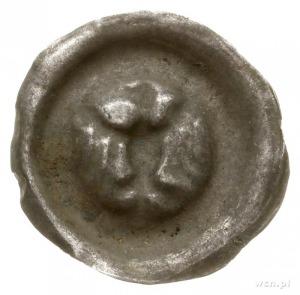 brakteat guziczkowy, przełom XIII-XIV w.; Orzeł heraldy...