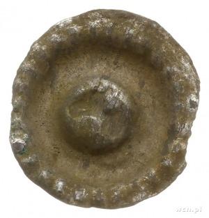 brakteat guziczkowy, początek XIV w.; Popiersie orła w ...