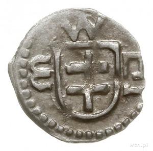 denar, mennica Wschowa; Aw: Tarcza z podwójnym krzyżem,...