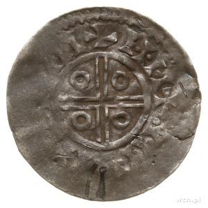 naśladownictwo denara duńskiego z XI w.; Aw: Krzyż liśc...