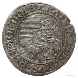grosz miejski 1471-1490, Wrocław; Aw: Pięciopolowa tarc...