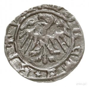 halerz miejski po 1438, Bytom; Aw: Górnik uderzający os...