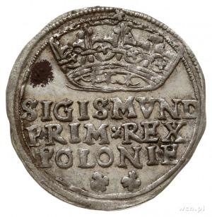 grosz 1545, Kraków, odmiana z napisem w 3 wierszach, wą...