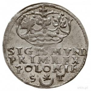 grosz 1546, Kraków, odmiana z napisem w 3 wierszach, du...