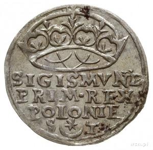 grosz 1547, Kraków, odmiana z napisem w 3 wierszach, he...