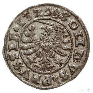 szeląg 1529, Toruń, końcówki napisów PRVS/PRVSSIE; CNCT...