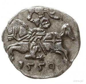 denar 1559, Wilno; Ivanauskas 2SA19-8, Kop. 3217 (R3), ...