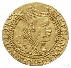 dukat, 1586, Gdańsk, Aw: Popiersie króla w prawo i napi...