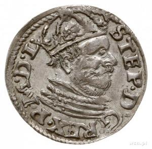 trojak 1585, Poznań, odmiana z małą głową króla; Iger P...