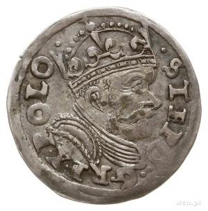trojak 1586, Poznań, odmiana z datą po lewej stronie he...
