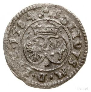 szeląg 1584, Wilno, odmiana z 3 kropkami na rewersie pr...