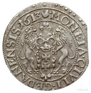 ort 1613, Gdańsk, kropka za łapą niedźwiedzia, na rewer...