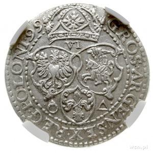 szóstak 1599, Malbork, mała głową króla; Kop. 1246 (R1)...