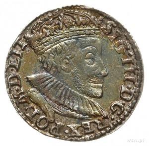 trojak 1588, Olkusz, mała głowa króla, na rewersie lite...