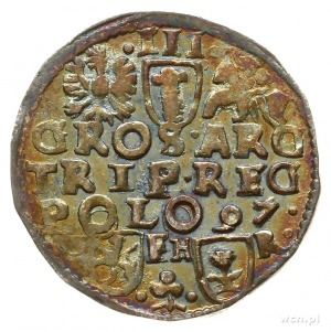 trojak 1597, Poznań, z napisem SIGI 3; Iger P.97.2.i