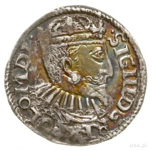 trojak 1595, Bydgoszcz, na awersie POLO M D L, odmiana ...