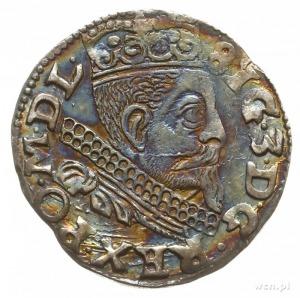 trojak 1598, Wschowa, odmiana z literą F po lewej stron...
