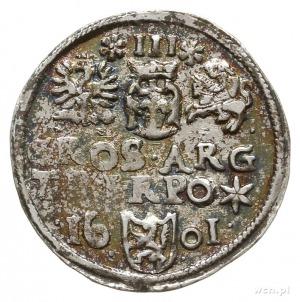 trojak 1601, Wschowa; Iger W.01.5.f/g (R); rzadszy typ ...