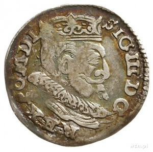 trojak 1599, Lublin, na rewersie litera L i skrócona da...