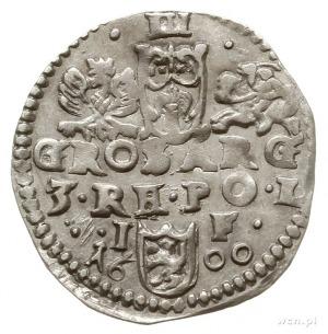 trojak 1600, Lublin, popiersie króla w kołnierzu; Iger ...