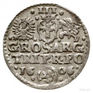 trojak 1606, Kraków, herb Lewart w owalnej tarczy; Iger...