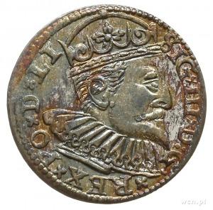 trojak 1598, Ryga, korona króla bez perełek; Iger R.98....