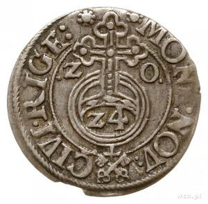 półtorak 1620, Ryga, odmiana z kluczami w napisie otoko...