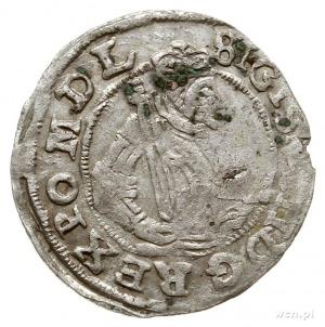 grosz 1598, Poznań, Aw: Popiersie króla w koronie i z b...