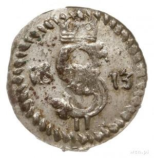 dwudenar 1613, Wilno, odmiana z ogonem Pogoni skierowan...