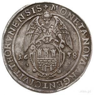 talar 1638, Toruń, duże cyfry daty, Aw: Półpostać króla...