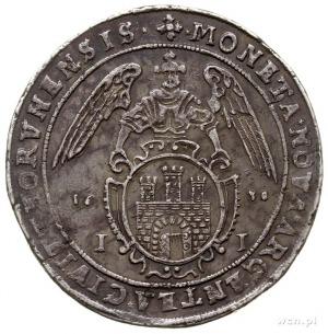 talar 1638, Toruń, małe cyfry daty, Aw: Półpostać króla...