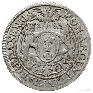 ort 1658, Gdańsk, małe popiersie króla; CNG 287.c; dość...