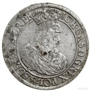 ort 1660, Gdańsk, popiersie króla z rękawem; CNG 289.I;...