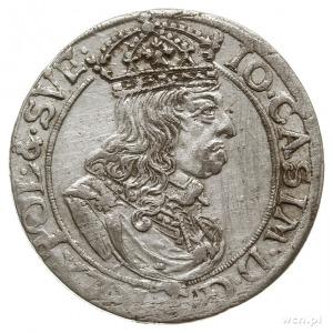 szóstak 1659, Kraków, na rewersie inicjały .T.L-.B. i g...