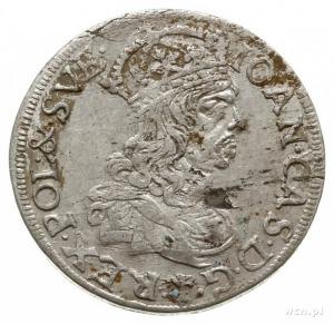 szóstak 1660, Kraków, bez obwódek na awersie, rewersie ...