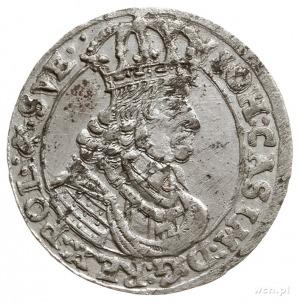 szóstak 1661, Bydgoszcz, na awersie po SVE dwie kropki,...