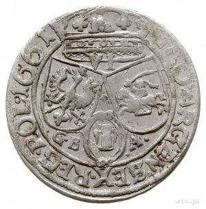 szóstak 1661/GB-A, Lwów, z herbem Ślepowron w obwódce; ...