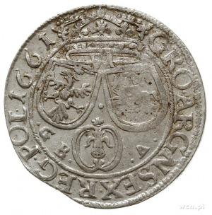szóstak 1661/GB-A, Lwów, z herbem Ślepowron bez obwódki...