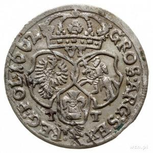 szóstak 1662/T-T, Bydgoszcz, bez obwódek na awersie i r...