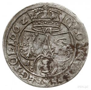 szóstak 1662/A.C-P.T, Lwów, z herbem Ślepowron z obwódk...