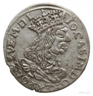 trojak 1662, Kraków, popiersie króla bez obwódki, z koń...