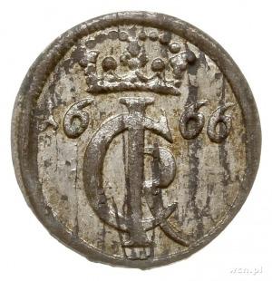 szeląg 1666, Elbląg; CNCE 245 (R2), Slg. Marienburg 950...